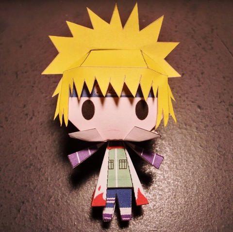 Naruto - Paper Toy Chibi Cuarto Hokage descargar GRATIS | Figuras de ...