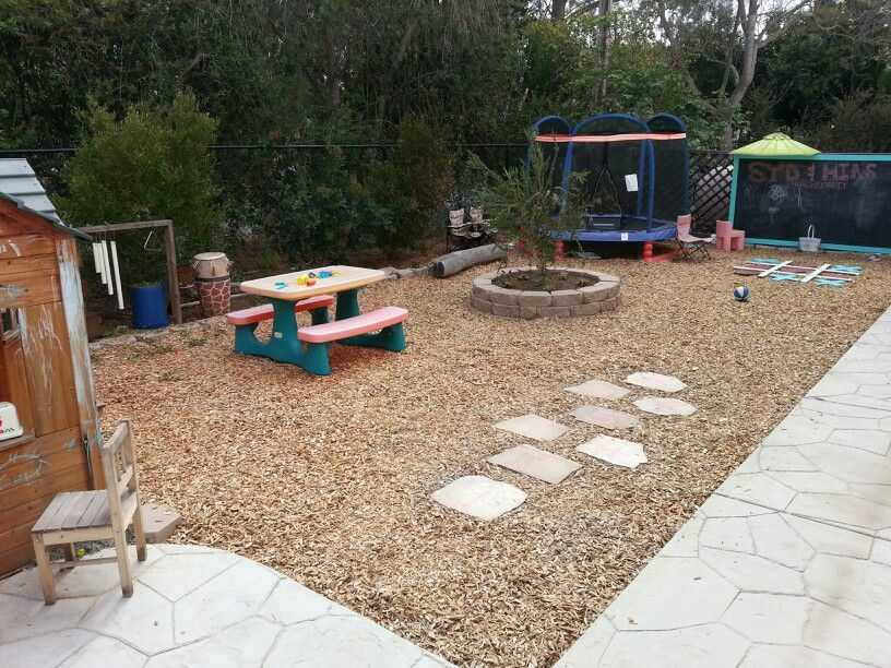 Kids Play Area No Grass Backyard Backyard Playground Backyard
