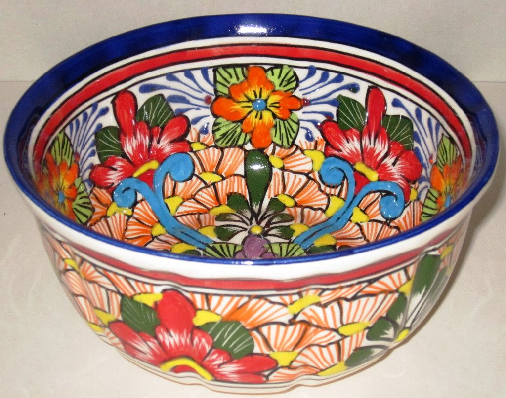 mexican pottery Talavera 🎆🌄🗻More Pins Like This At FOSTERGINGER @ Pinterest 🌋🌠🌈