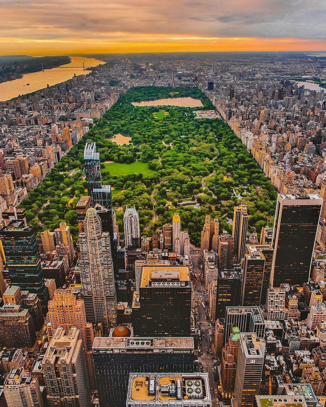 Cetral Park: Central Park From Above By Mike Gutkin
