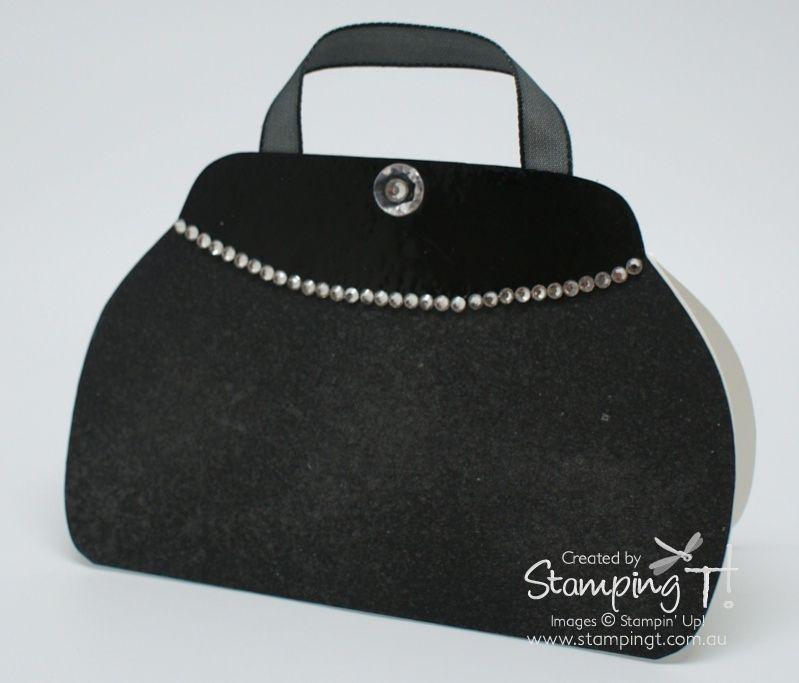 Stampin Up Stamping T Stylish Handbag Card Black
