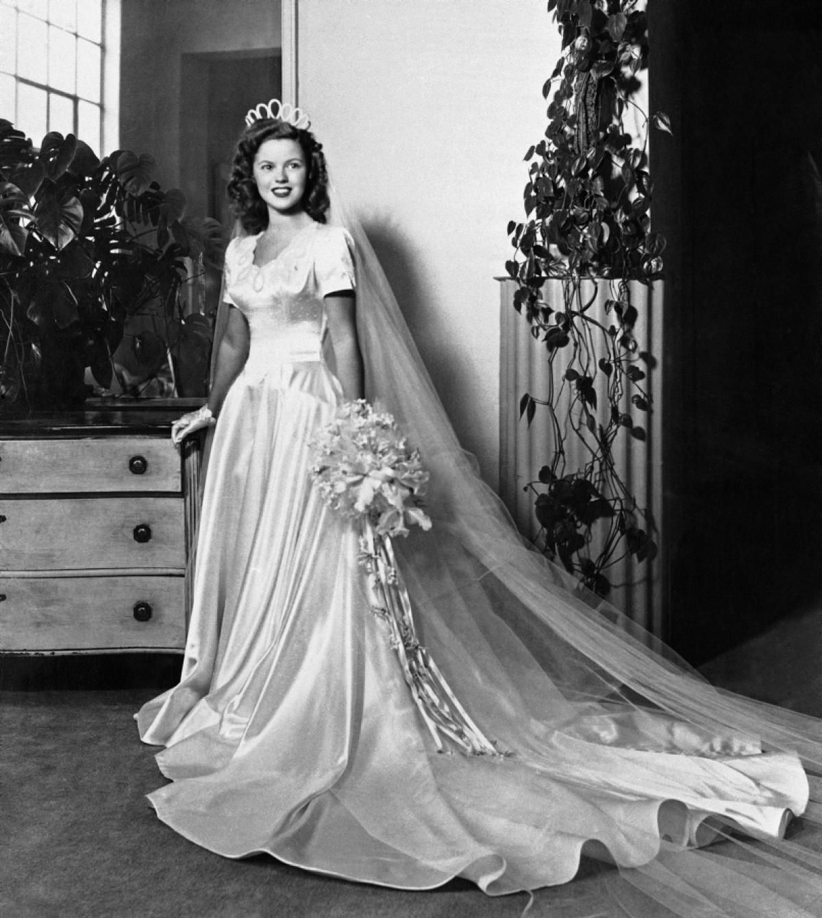 Vintage Wedding Dresses Nyc: Shirley Temple In Her Wedding Gown