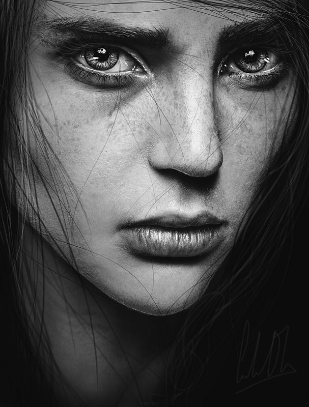 Black And White Close Up Photography