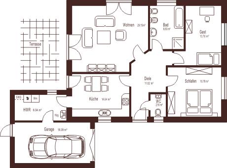 Bauzeichnung Garage bauzeichnung 1 grundrisse haus bungalow and house