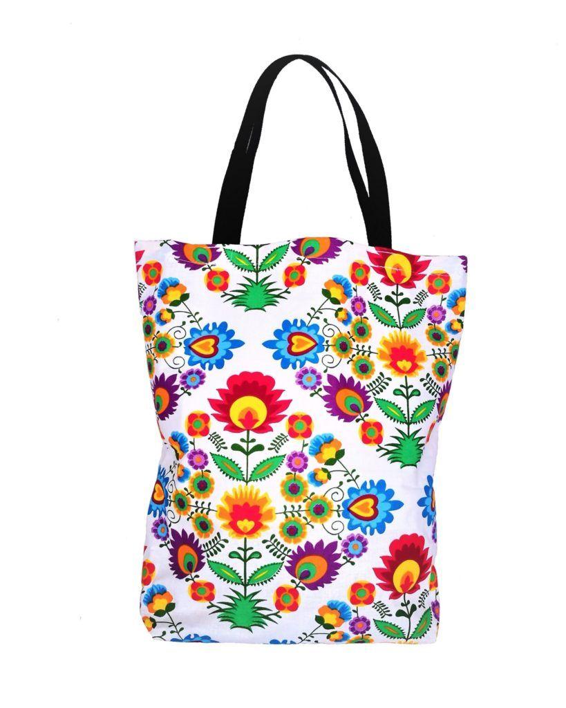 Bawelniana Eko Torba Ludowy Serwetki Tote Bag Bags Diaper Bag