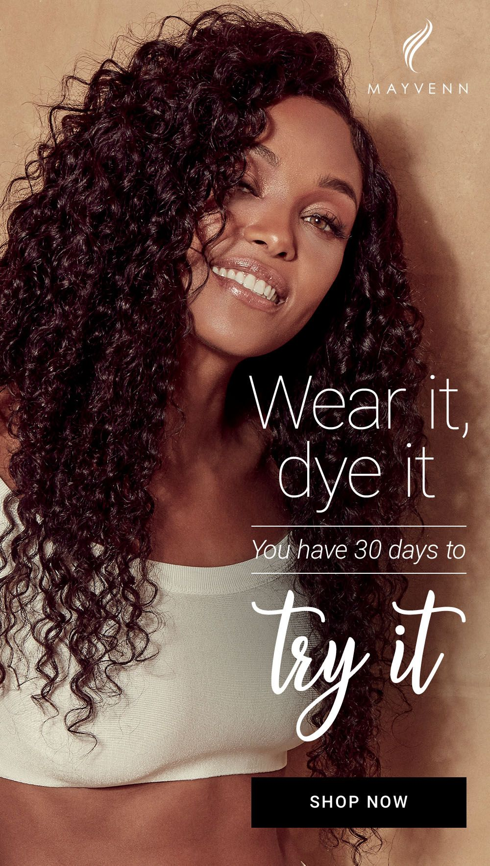 try the best quality hair on the market risk-free! hair