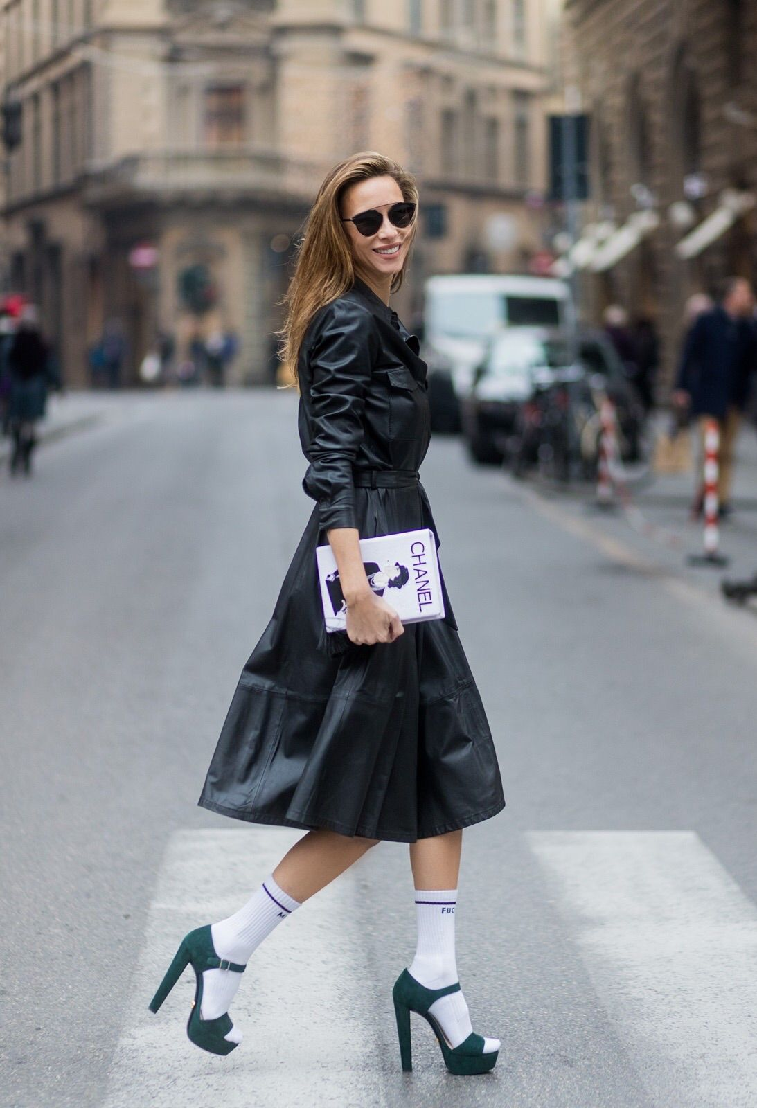 b93fc577 FLORENCE, ITALY - JANUARY 11: German fashion blogger and model Alexandra  Lapp, wearing