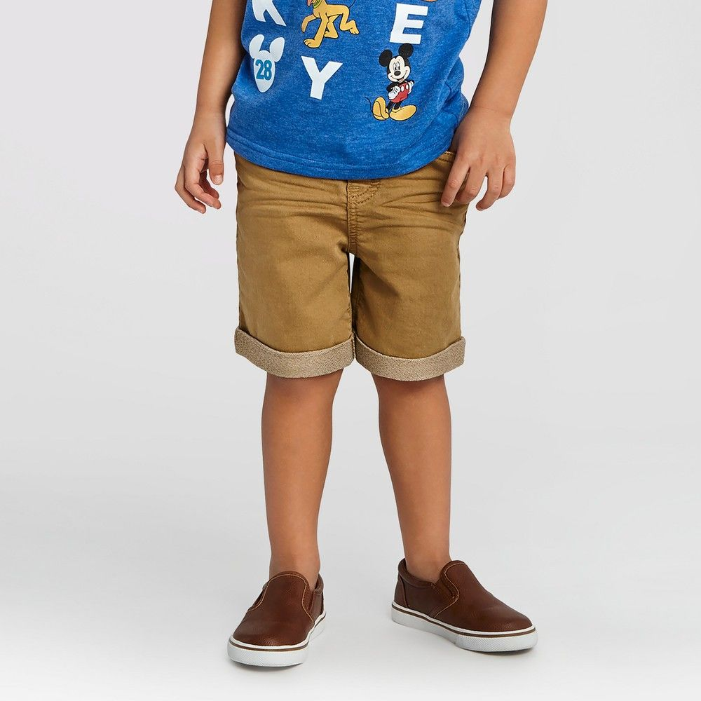 8f94ba71f Toddler Boys' Jean Shorts Cat & Jack - Khaki, Toddler Boy's, Size: 5T, Beige