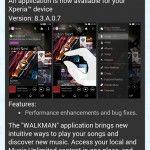 Sony Walkman 8.3.A.0.7 app update rolling Walkman, Sony