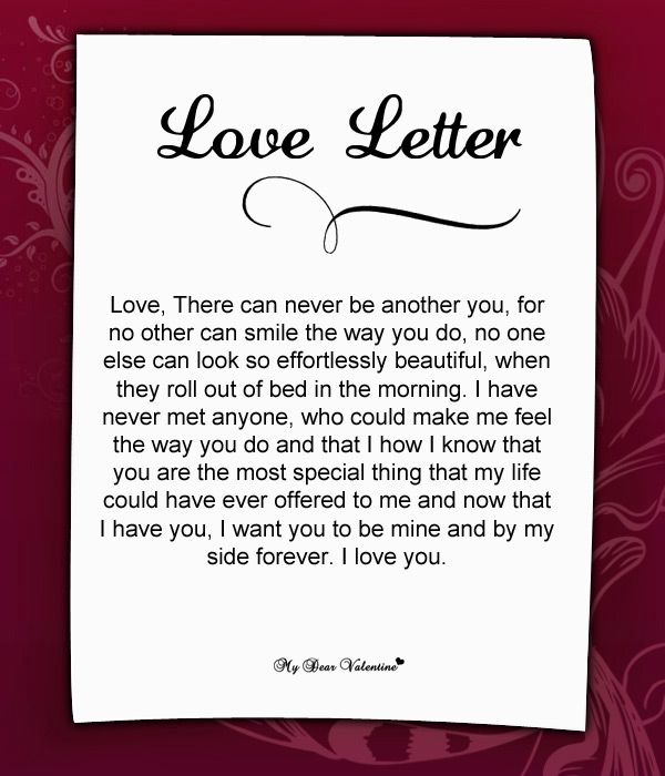 Love Letter For Him   Love Letters For Him
