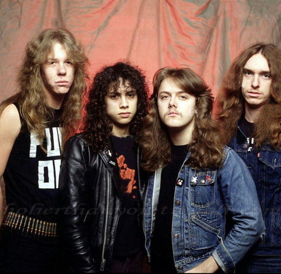 Rock Bands: Metallica: James Hetfield, Kirk Hammet, Lars Ulrich, Cliff