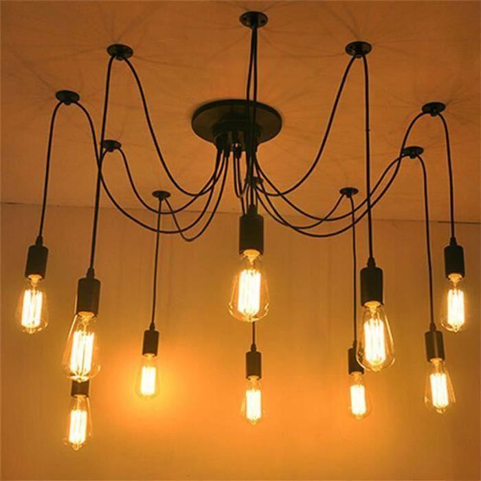 FerandHome Rétro Lampe De Plafond Plafonnier Suspension Lustre