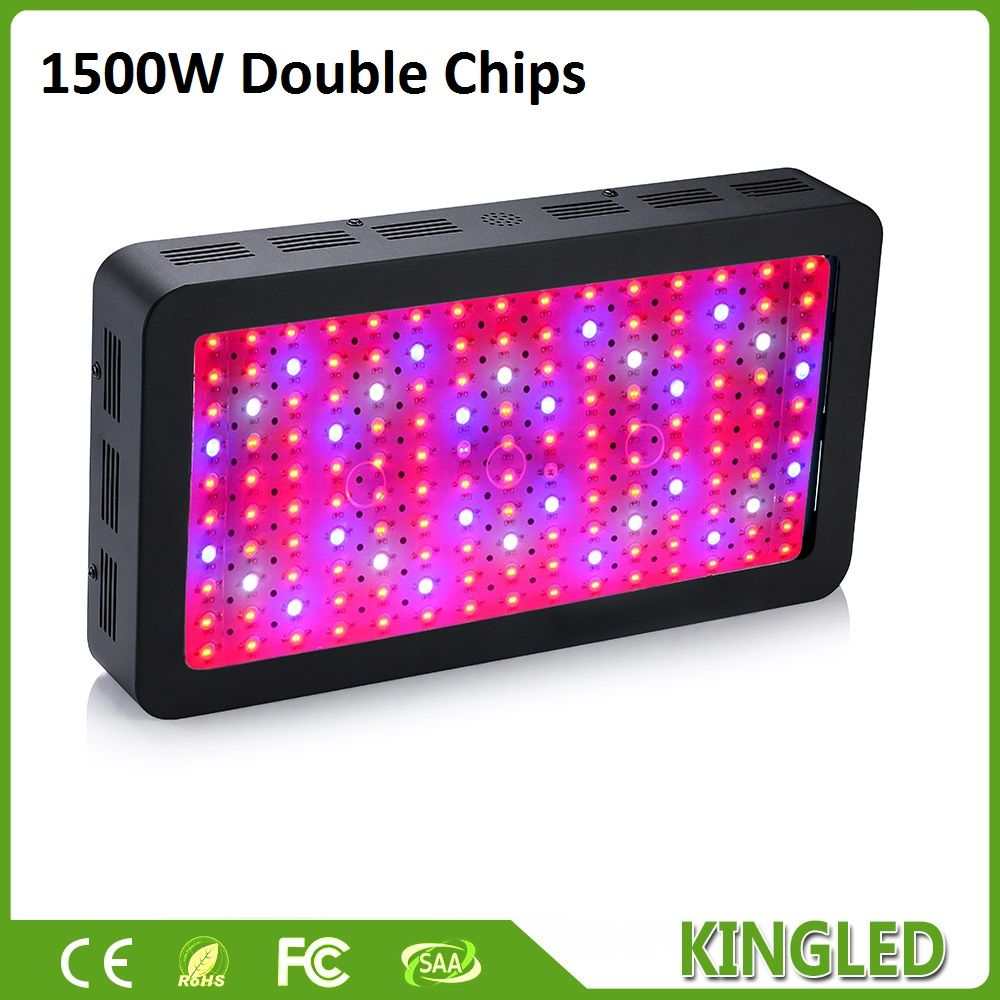 King Plus 1500w Led Grow Light Full Spectrum Black Double Chips 410 730nm For Indoor Plants And Flower Phrase Very High With Images Led Grow Lights Indoor Tents Led Lights