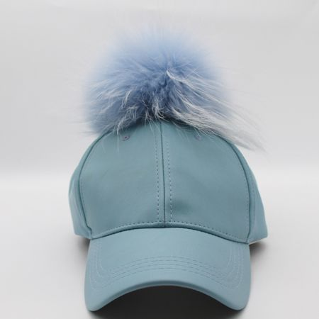 0ea6551d506 2016 Winter Real Raccoon Fur Pompoms Hat Hip Hop PU Leather Baseball Cap  Women Fur Pom Pom Snapback Caps-in Baseball Caps from Men s Clothing    Accessories ...