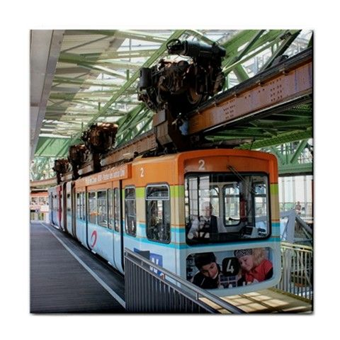 Wuppertal Floating Train / Wuppertaler Schwebebahn Ceramic Tile