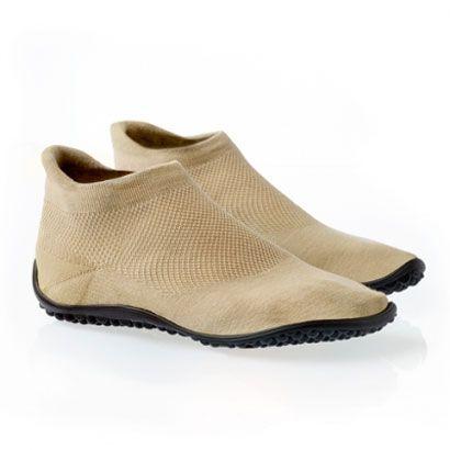 leguano sneakers beige die gesunde Fußbekleidung für zu Hause, Büro und OutDoor