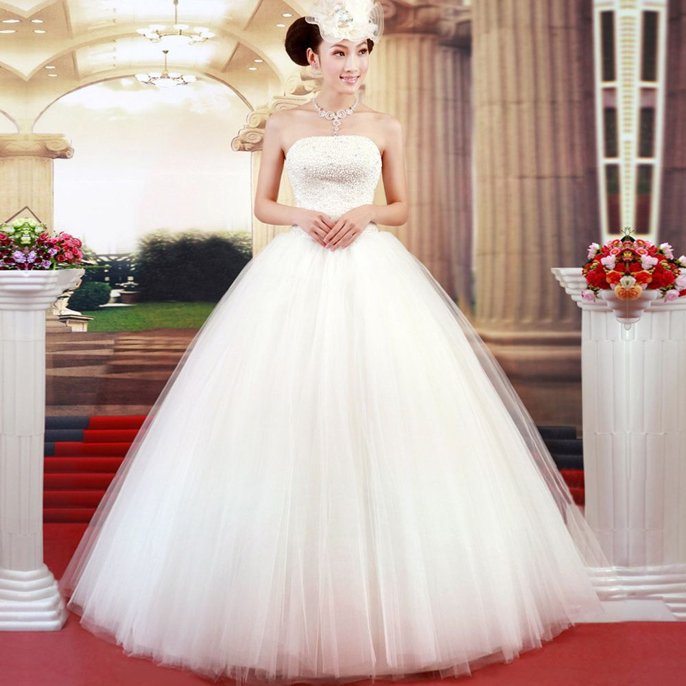 Poufy White Chinese Wedding Gown