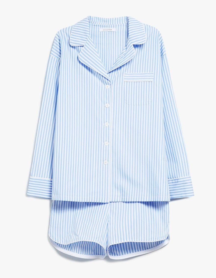 d86883626d Sleeper   Striped Pajama Shorts Set