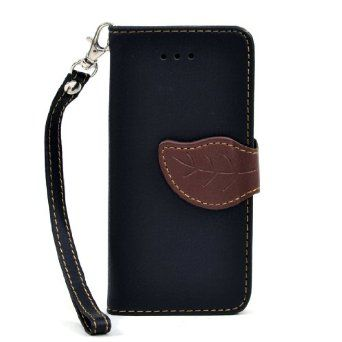 Dasein Leaf Design Faux Leather Cell Phone Case for iPhone 5