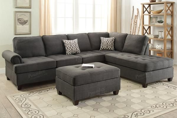 Poundex Poundex 2 Pcs Sectional Sofa F6990 For $618