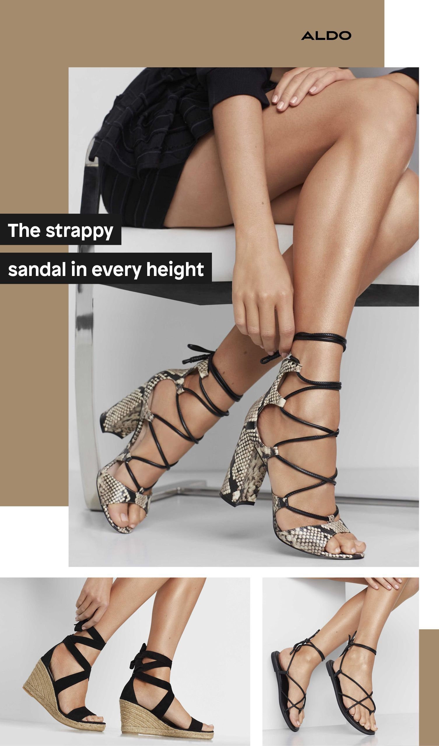 Lace-up sandals from Aldo Shoes new