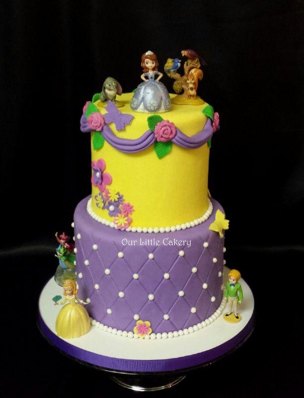Princess Sofia Birthday Cake Ourlittlecakery Fresno Ca