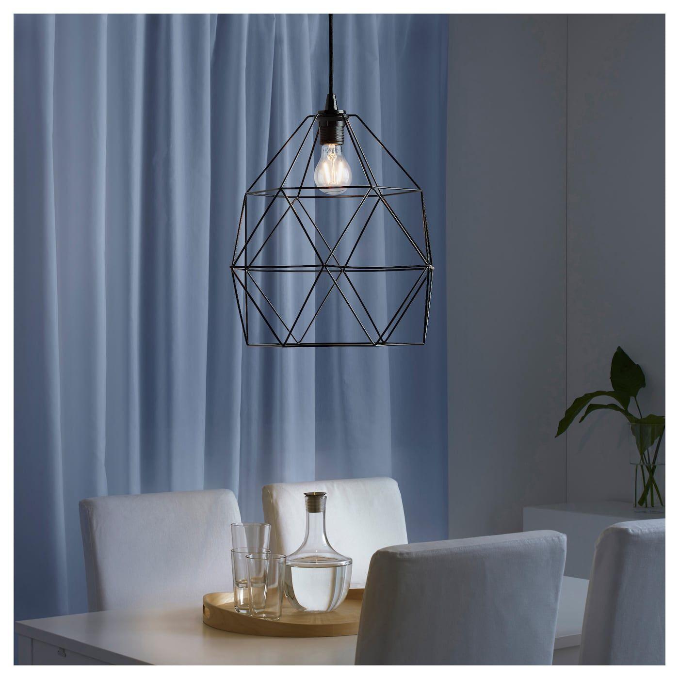 IKEA BRUNSTA / HEMMA Black Pendant lamp Small lamp