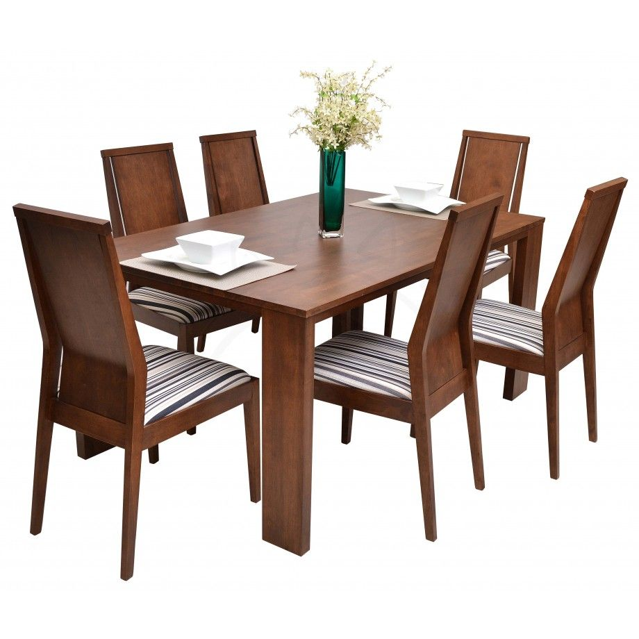 Commodity juego de comedor tmh236 madera hecho de for Juego de comedor de madera de 6 sillas