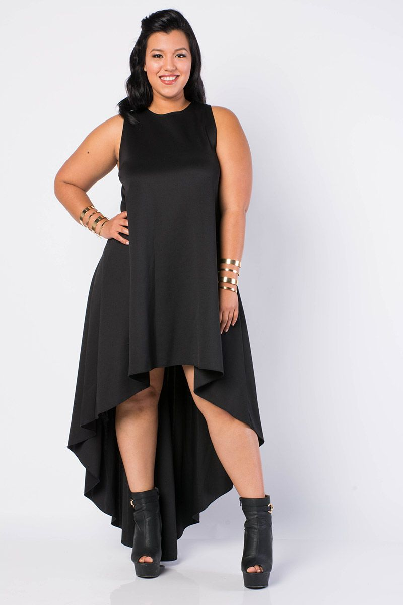 Goddess High Low Dress | outfits | Fashion, Trendy plus size