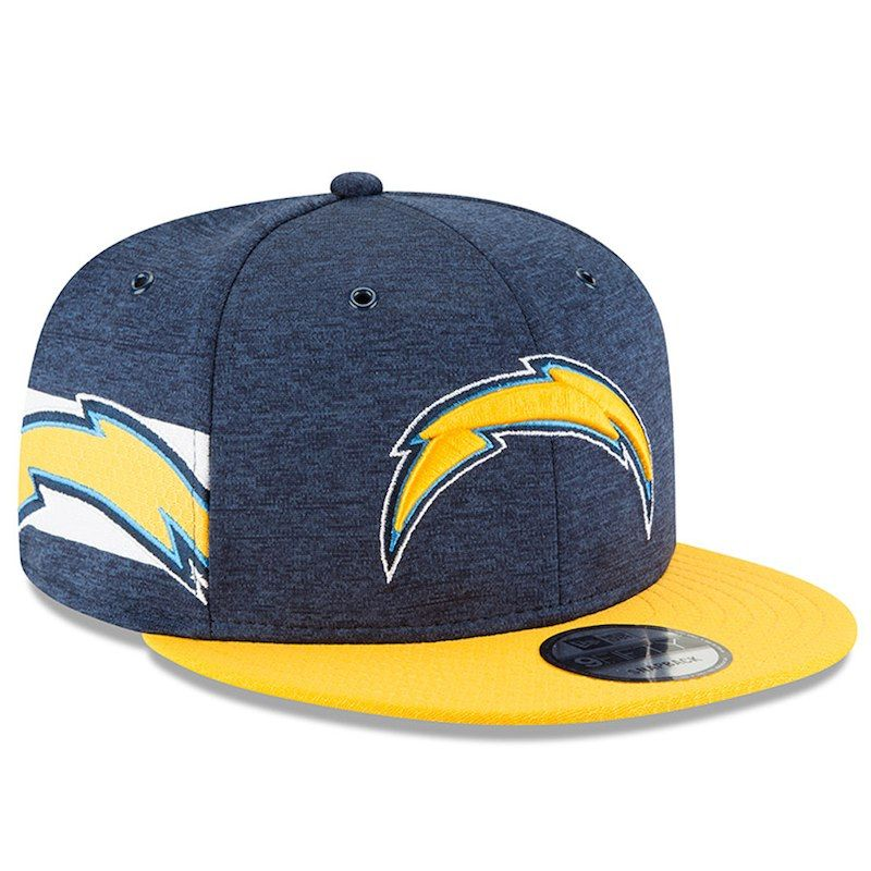Los Angeles Chargers New Era 2018 Nfl Sideline Home Official 9fifty Snapback Adjustable Hat Navy Gold Los Angeles Chargers Fitted Hats Navy Gold