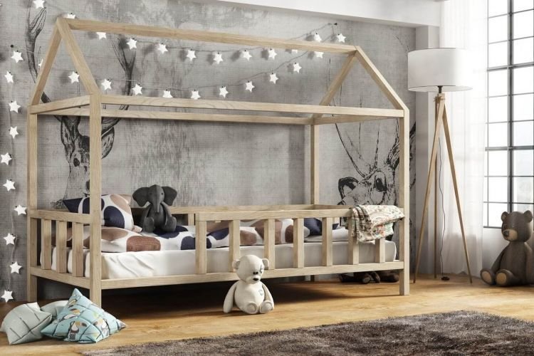 Kinderbett Kinder Hausbett Mit Rausfallschutz Holz Bett Kinder