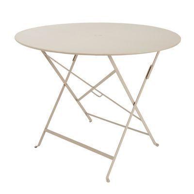 Table de jardin Bistro ø96 cm brun noisette | Mobilier de jardin ...