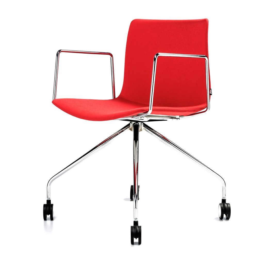 chair red office desk leather white mesh