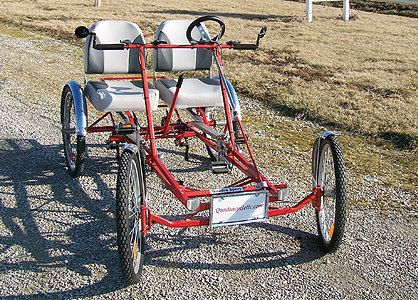 Quadracycle Sport Two Person Four Wheel Pedal Bicycles With 21