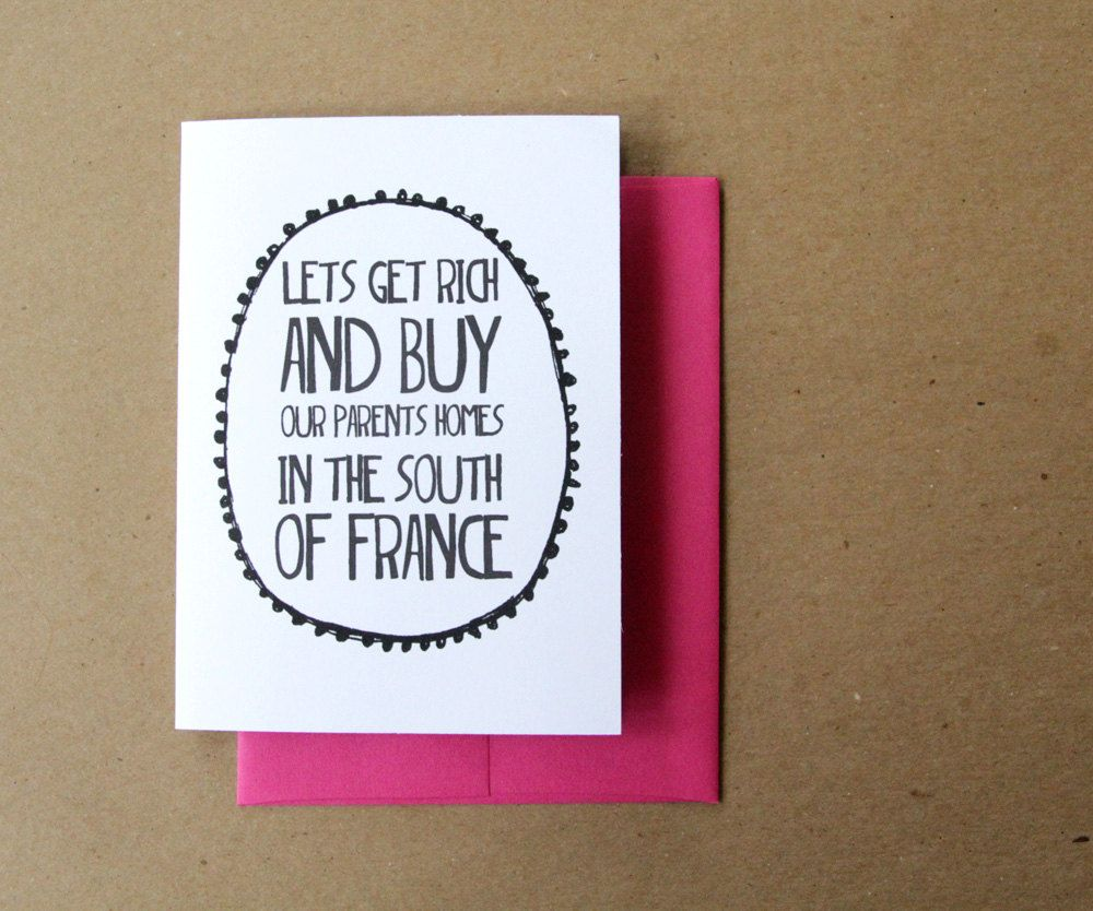 valentine card funny valentines day card lets get rich and buy