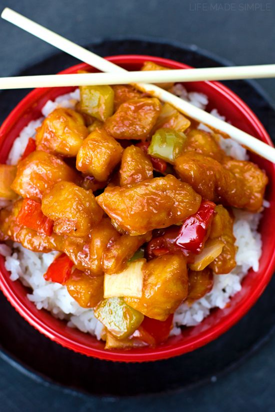 Better Than Takeout Sweet and Sour Chicken Recipe Food