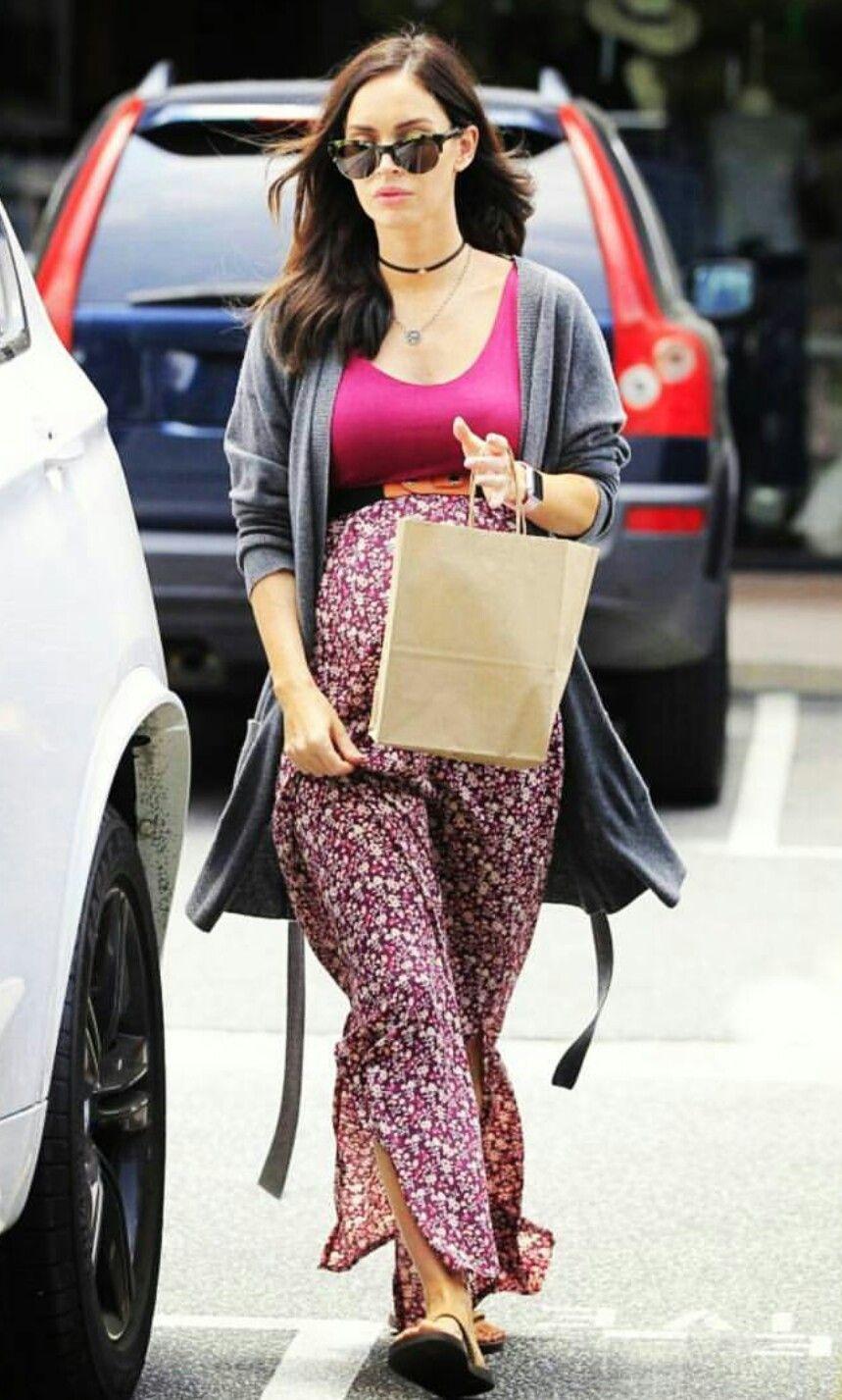 O estilo lindo de gravidinha da Megan Fox!✨ #creative #pregnant #style