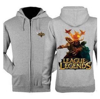 League of Legends zip up hoodies for men XXXL Udyr printed hooded sweatshirts