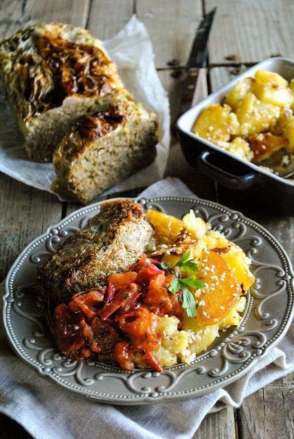 Vegan lentil loaf with cabbage (gluten free)