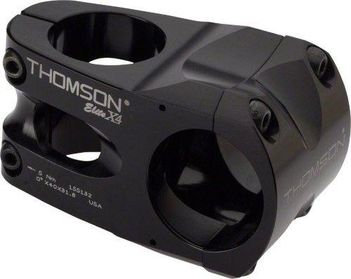 Thomson Elite X4 MTB Bike Bicycle Stem 0 degree 31.8 x 40mm Black