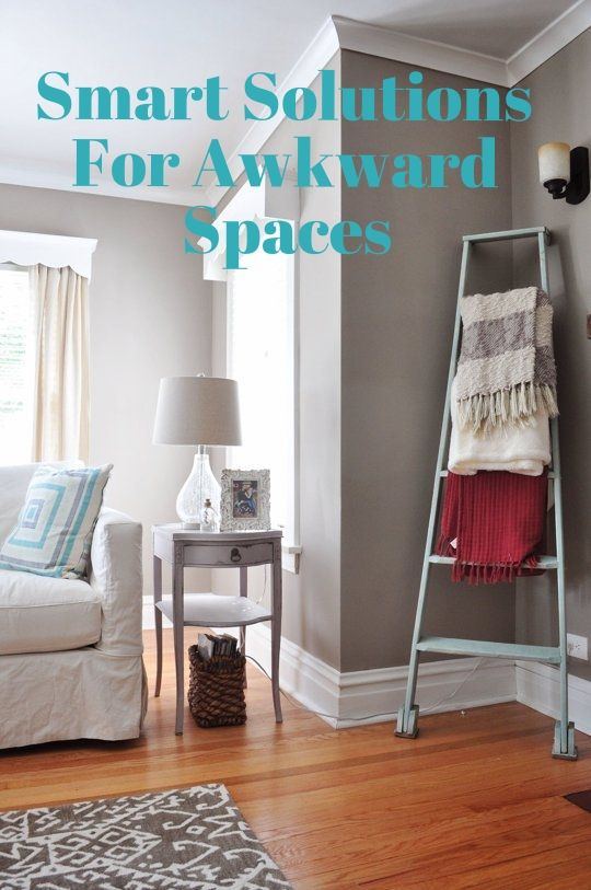 Smart design solutions for tricky awkward spaces tips ideas pinterest room corner room for Awkward living room layout solutions