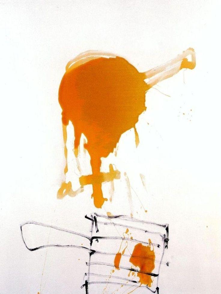 """Antoni Tapies. """"...Me niego a considerar la `pintura como un oficio de la comunicación...no se pinta un cuadro como se hace una foto...la pintura progresa y se organiza en gran parte...del aprendizaje de algo visible que muy a menudo resulta sorprendente para el propio artista."""
