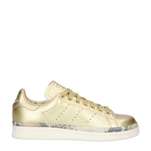 Stan Smith New Bold W leren sneakers goud - Adidas originals ...