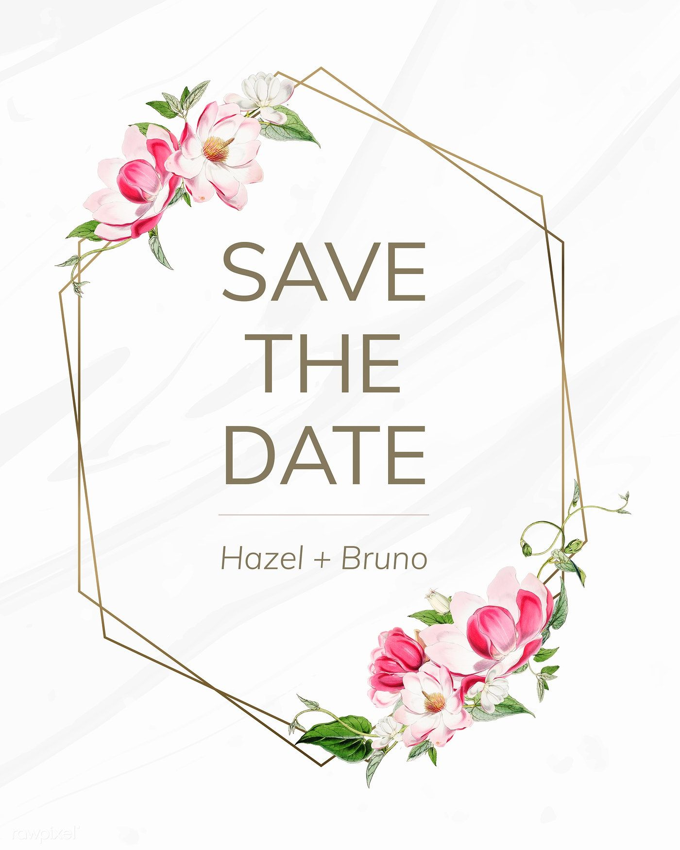 Download premium illustration of Save the date wedding