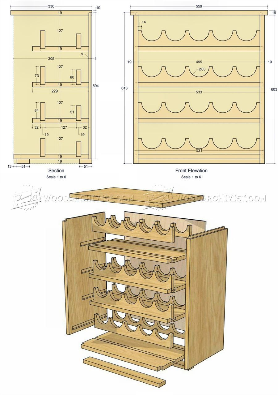 Wine Rack Plans - Furniture Plans Woodworking Plans | Truhlareni ...