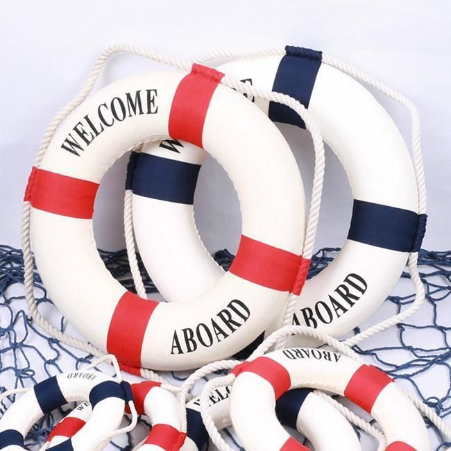 Foam Wall Hanging Home Decor Decorate Nautical Lifebuoy Life Ring Room Decors H