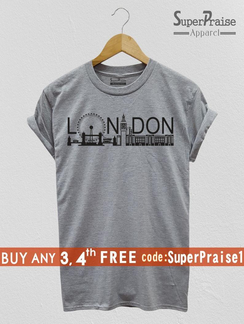 efffb1d37 London t-Shirt London Tourism City Centre UK Britain Slogan Cool ...