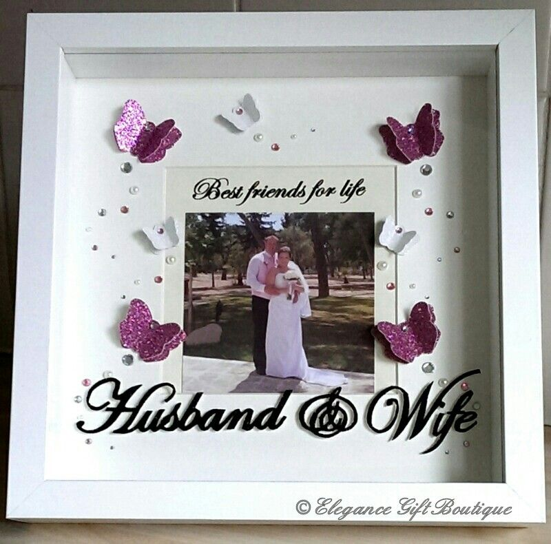 Friendship Picture Frames With Quotes: 3D Butterfly Frame With 'Best Friends For Life, Husband