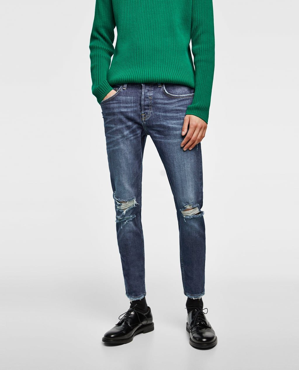 21a737cf8cd Men's Jeans | New Collection Online | ZARA United States Raw Edge, Skinny  Fit Jeans