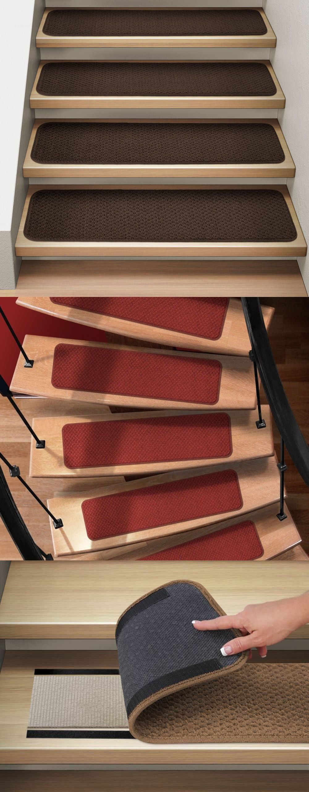 Best Stair Treads 175517 Set Of 15 Attachable Carpet Stair 640 x 480